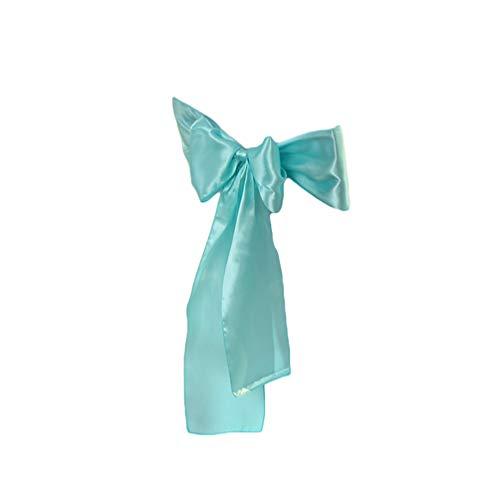 WanYangg Stuhlabdeckung Bogen Satin Stuhlhussen Schärpen Dekoration Schleifenband für Hochzeitsdekoration, Jahrestag Partys, Bankett 50PCS Tiffany Blue