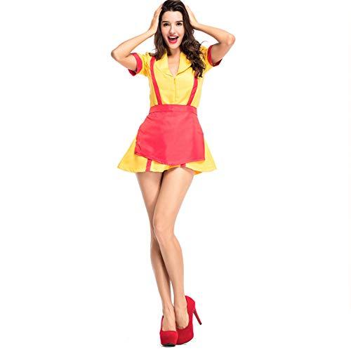 Romsion Bier Bekleidung weiblich Cosplay Kleid Mode Stil Kleid für Bier Festival Halloween Gr. Medium, (Weibliche Holloween Kostüm)