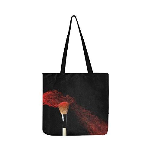 Abstrakte Kosmetik Leinwand Tote Handtasche Schultertasche Crossbody Taschen Geldbörsen Für Männer Und Frauen Einkaufstasche