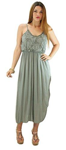 citydress24 - Robe - Femme One Size Kaki