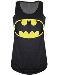 Mix lot Les nouvelles femmes dames dos nageur Batman slogan imprimé Débardeur noir stretch blanc Superhero Sexy Vest Taille 36-42