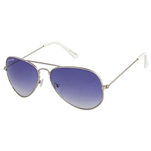 Danny Daze UV Protected Aviator Unisex Sunglasses (D-604-C3 51MM Blue)