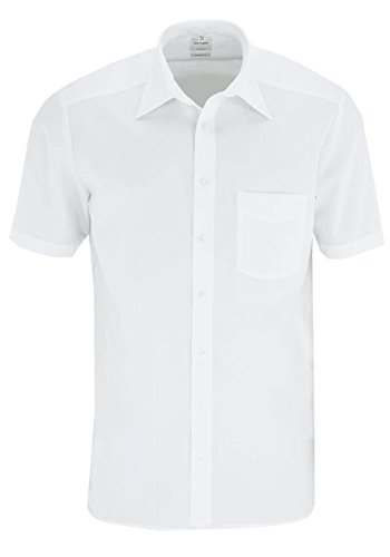 OLYMP Tendenz / Regular Fit / Hemd Halbarm Basic Kent Kragen- Gr. 42, Weiß
