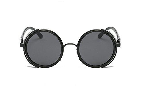 LSHGYJ GLSYJ@,Metall, in Europa und in den Vereinigten Staaten trend, Persönlichkeit, runde, Sonnenbrille, Windschutz, Sonnenbrille, Männer und Frauen mit dem Absatz, Sonnenbrille