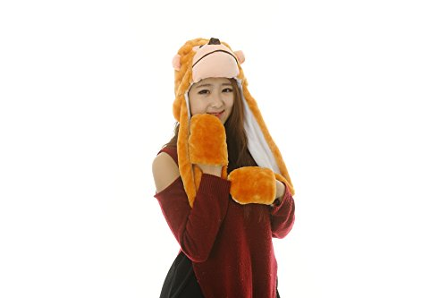 25 Arten Cartoon Plüsch Tier Hüte mit Schals Handschuhe Handschuhe Leistung ()