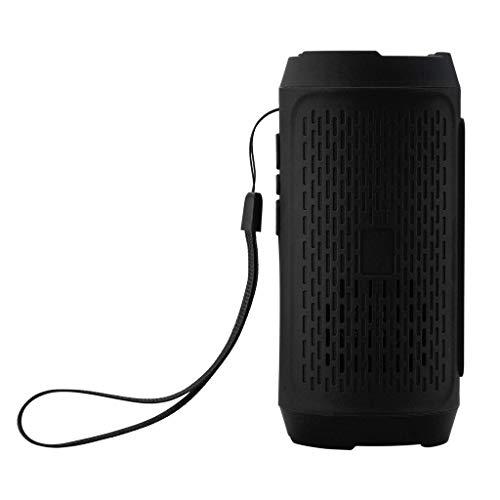 SO-buts FD-1 Bluetooth Lautsprecher, Mini Drahtlose Stereoanlage Lautsprecher, Unterstützungs TF Karte, USB,Mit FM-Funktion, für Smartphone,Tablet PC (Schwarz) (Dusche Radio Sony)