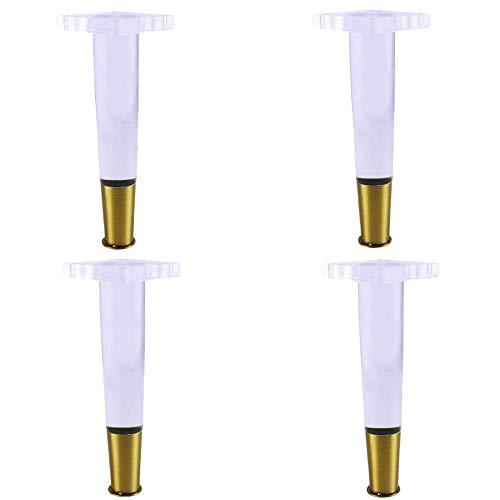 TOOGOO 4 Teile/Satz 4 Zoll Konische Acryl Sofa Beine Plexi Glas Tisch Beine Acryl Schrank Beine M?Bel Zubeh?R Stuhl Beine