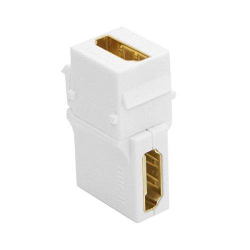 cablecc 90Grad rechts abgewinkelt HDMI 1.4Snap Buchse auf Buchse Keystone Jack Koppler Adapter für-weiß - Stecker Keystone Jack