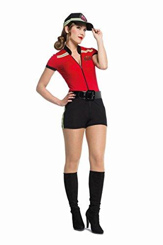 sexy Damen Kostüm Catsuit Feuerwehr Karneval Fasching - Sexy Feuerwehr Kostüm
