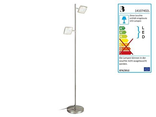 LED-Stehleuchte Livarno Lux Stehlampe Leselampe Höhe. 130-145 cm (mit Eckigen Reflektorenn)