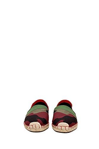 Valentino espadrilles homme en coton camouflage vert Multicouleur