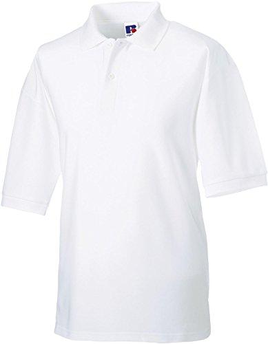 Klassisches Poloshirt aus Mischgewebe White