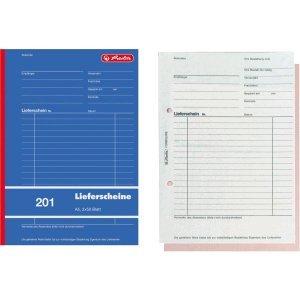 Herlitz 10 x Formularbuch Lieferschein A5 201 2x50 Blatt
