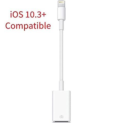 Mycs Lightning Câble OTG mâle 8broches vers USB Adaptateur femelle pour Apple iPhone 6/6s/5/5S/C/iPad