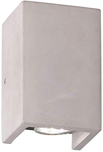 Applique Murale Up&down 2x35W Applique Murale Gris Bêton GU10 Betonwandleuchte Lumière Moderne Incl. 2x Ampoules Halogènes Lampe Béton Cube
