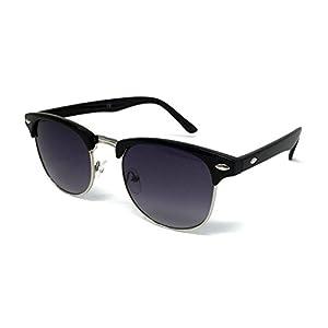 bcea335f22 1950s Style Clubmaster Sunglasses – Vintage Retro Unisex Shades 100% UV400  Protective