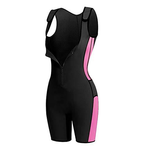 MagiDeal Neopren Schwitzanzug zum abnehmen Frauen Trainingsanzug Fitnessanzug Saunaanzug Schweiß Bodysuit Overall - M
