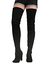 77511cf0a65 Amazon.co.uk  Over-the-Knee - Boots   Women s Shoes  Shoes   Bags