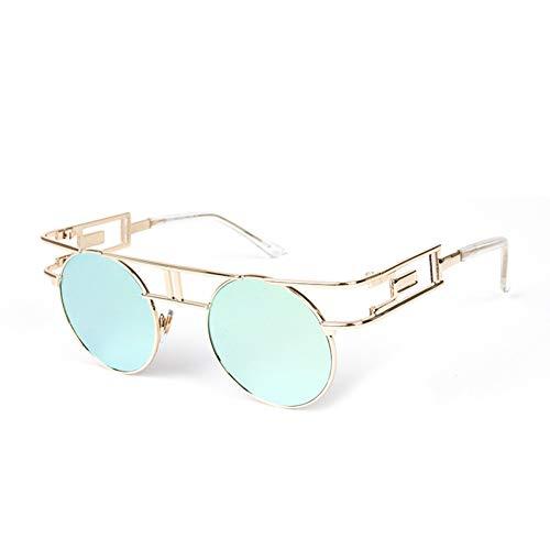 CCGSDJ Metallrahmen Steampunk Sonnenbrille Frauen Markendesigner Einzigartige Männer Gothic Sonnenbrille Vintage Oculos De Sol Feminino