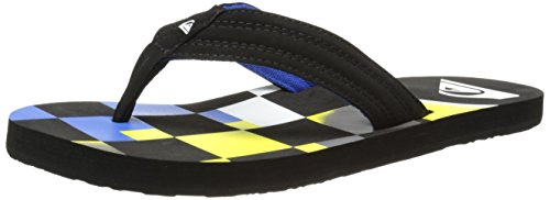 Quiksilver Basis, Tongs garçon Multicolore (Black/Green/Blue)