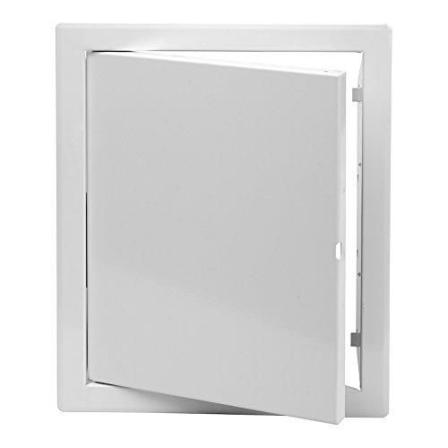 Revisionstüre weiss 15 x 20 cm mit Klickverschluss glattes Türblatt
