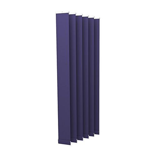 Victoria m tenda a lamelle verticali isabella - forma a i, leggermente trasparente - 12,7 x 250cm, blu | pacco da 6