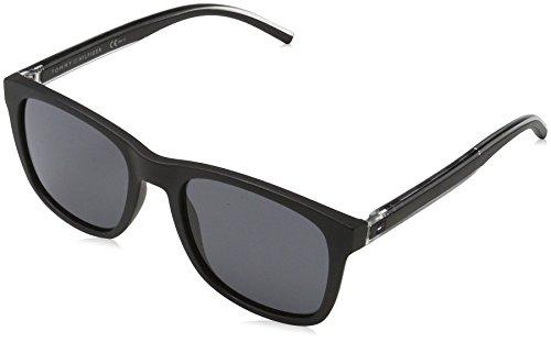 Tommy hilfiger th 1493/s ir 807, occhiali da sole uomo, nero (black/grey bluee), 53