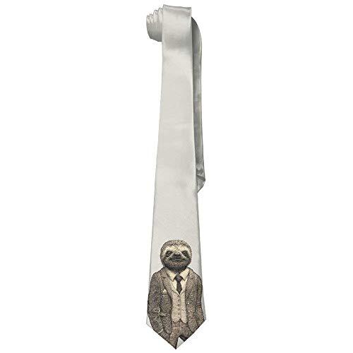 Preisvergleich Produktbild Men's Stylish Sloth Casual All Over Skinny Novelty Neck Tie
