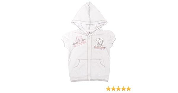 Girls Jacket Snoopy Cute Gem Stud Short Sleeve Zip Hoody Top 3 to 6 Years