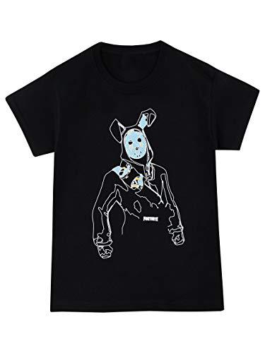 Fortnite Camiseta de Manga Corta para Niños Negro 12-13 Años 25ebe95821e