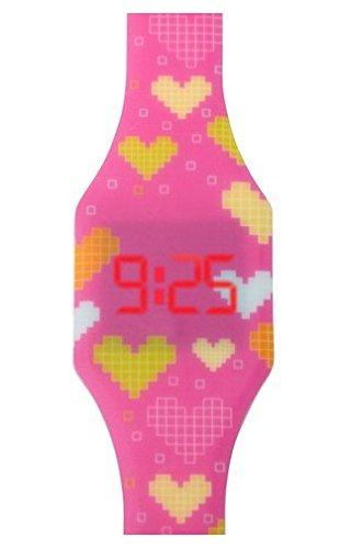 Reloj LED Digital chica, infantil y joven, de pulsera, correa de suave
