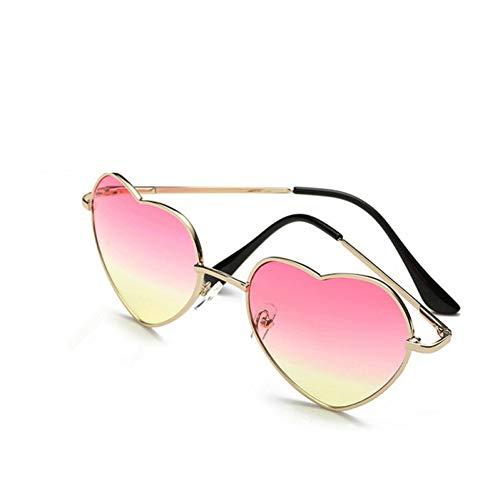 Zbertx occhiali da sole a forma di cuore donna occhiali da vista a forma di metallo occhiali da sole specchi da donna,oro rosa