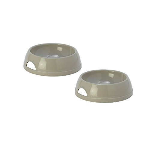 2 Grey Eco Bowls 0.47L Cat Kitten Pet Animal Dog