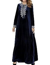 4dfedc4c0299 Signora Vestiti Musulmani Lunghi Manica Completa Vesti Solide Donne Inverno Islamico  Arabo Ramadan Indumento