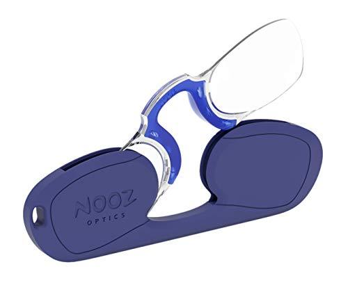 Nooz occhiali da lettura misti senza astine, rettangolare, blu, 2, sempre a portata di mano