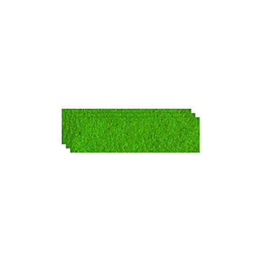 GLOREX Bastelfilz (40 x 30 cm) hellgrün, 4 mm dick, 3 Filzplatten