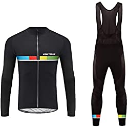 Uglyfrog Bike Wear Ropa de Bicicleta Hombre MTB Traje de Ciclismo Mangas Largas Maillot+Pantalones Equipación de Ciclista, Talla XS-6XL