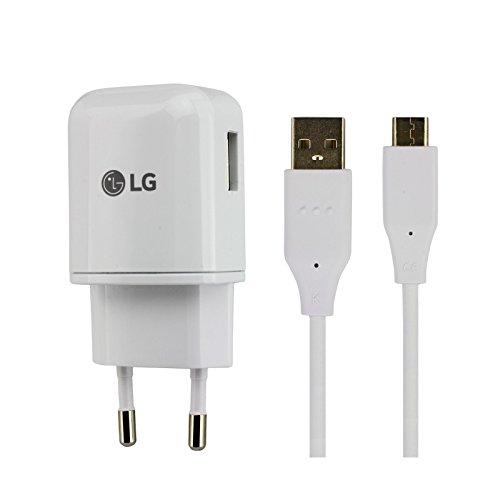 MLTrade Cargador Original LG MCS-H06ED Carga Rapida + Cable para LG G5, G6, Nexus 5X, 6P, V20, V30, Bulk