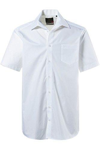 JP 1880 Herren große Größen bis 8XL, Kurzarm Businesshemd aus Reiner Baumwolle, mit Brusttasche, Variokragen & Comfort Fit weiß 7XL 705178 20-7XL