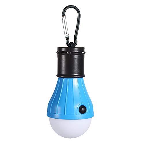 Camping Licht Hängende Lantern LED Tragbare Glühbirne High Low Strobe 3 Modes Batterie getriebene Farben für Camping, Lesen,Blue - Blue Hurricane Lampe