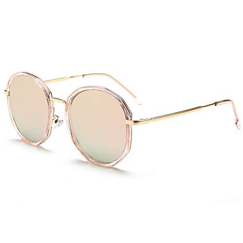 TBATM Runde Polarisierte Sonnenbrillen, Frauen HD-Anti-UV-Briefglas-Riding Brillen für Driving Running Fishing Golf Baseball,A