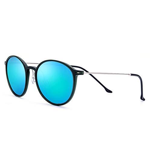 Rahmen der Sonnenbrille TR90 der niedlichen Frauen runde Form UV-Schutz-Sonnenbrille für das Fahren von Ferien-Strand-Sonnenbrille im Freien. Brille (Farbe : Green)