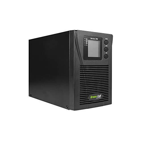 Green Cell UPS USV Unterbrechungsfreie Stromversorgung 1000VA (900W) 230V 1000VA-1999VA Pure Sine Wave Online 2X Schuko