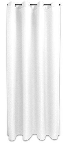 Hochwertige Ösenvorhang Ösenschal 140x245cm blickdicht oder licht durchlässig viele Farben (weiß (halbtransparent))