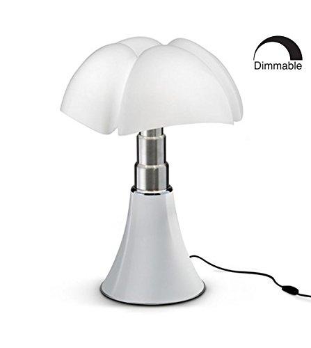 Grande lampada pipistrello bianco 14W LED H66-86cm