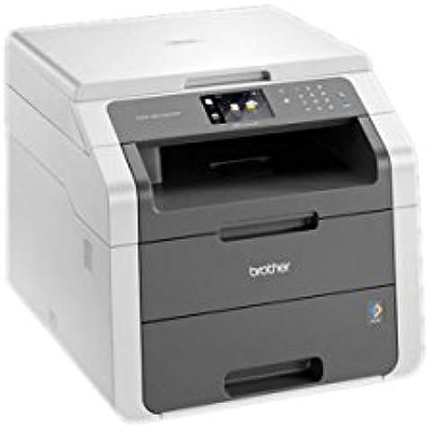 Brother DCP-9015CDW - Impresora multifunción láser color (LED, WiFi, impresión automática a doble cara), color blanco y