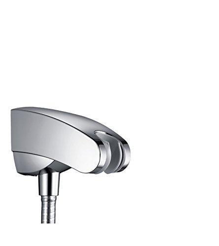 Hansgrohe 27507000 Porter E Support pour tuyau de douche avec flexible Isiflex Chromé 1,25 m