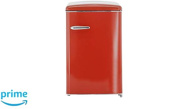 Exquisit Retro Kühlschrank : Exquisit rks 120 16 rva rot retro kühlschrank eek: a 121 liter