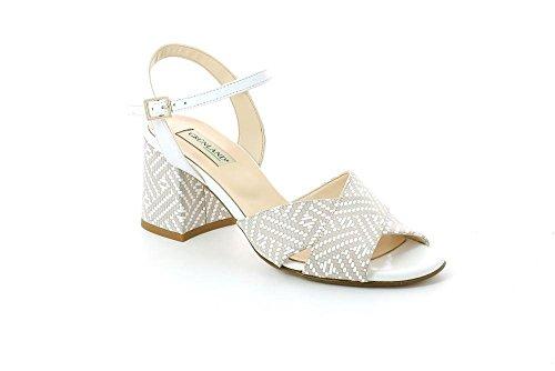GRUNLAND SA1681 Mali Sandalo Donna P./S. Bianco