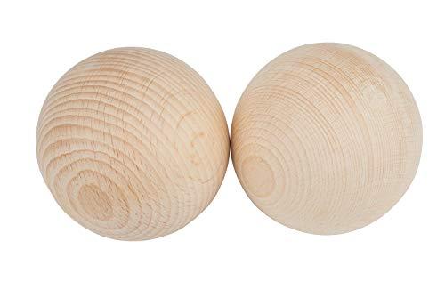 Holzkugeln ohne Bohrung 80 mm, 2 Stück